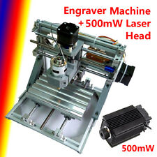 3 Axis CNC Engraver Engraving Machine Wood Carving DIY Kit + 500mW Laser Head