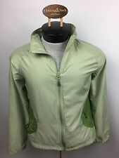 Wind River Modele Womens Lightweight Zip Front Wind Breaker Jacket Medium Green