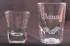 Personalized 2oz Shot Glass Engraved with Free name 16 different font choices