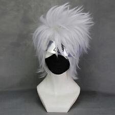 Cosplay Perücke wig Silber weiß Naruto Hatake Kakashi Hunter x Hunter KILLUA