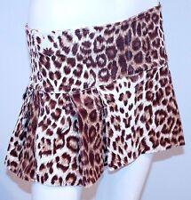 PAPAYA Leopard BALLERINA Mini PRINT Skirt VELOUR M FREE SHIPPING