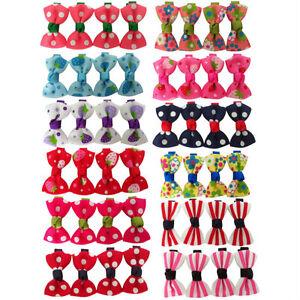 Dog Hair Clips - Dog Bows - 12 designs - Puppy Bow - Fashion Dog Accessories