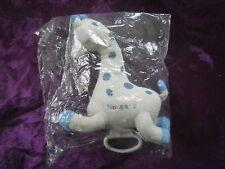 Doudou girafe bleu creme musicale NOVALAC neuf