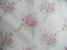yuwa vintage-stil pink rosen bouquets über lavendel yd. baumwolle stoff 1 yd.