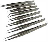Set de 8 Brucelles pour horloger - Set of 8 Tweezers for watchmaker-
