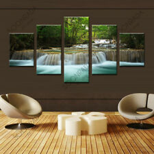 5 Pieces Large Canvas Wall Art Waterfall Landscape Painting Prints on Canvas