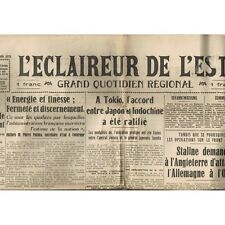 L'ÉCLAIREUR de L'EST 29 Juillet 1941 Staline Facteurs Zone Occupée Malte Tobrouk