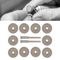 10pcs Diamond Cutting Disc Wheel & 2 Rotary Rod Jewelry Making Grinding Tool Kit