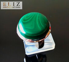 Earth minded MALACHITE Sterling Silver 925 Ring Size 8