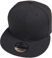 New Era Blank Black Snapback Cap 9fifty 950 Original Fit Blanko Kappe Mens New