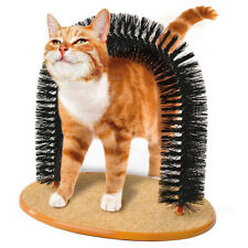 Pet Scratch Board Comb Brush Hair Toy Pet Grooming PVC Brush Play Toys For Cat