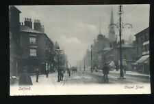 SALFORD Lancashire   Chapel Street  with Shops / Church / people