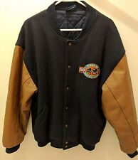Vintage FORD F-Series 50 Years Jacket 1948 1998 Wool Leather Sleeves Canada XL