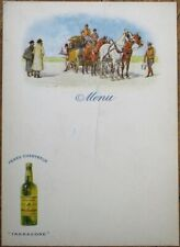 Chartreuse 1930s French Advertising Menu - Peres Chartreux, Tarragone - Horses