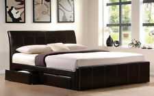 Unbranded Faux Leather Bedroom Beds & Mattresses