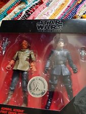 "Star Wars 6"" Black Series ADMIRAL ACKBAR+FIRST ORDER OFFICER 2-Pack TRU New"
