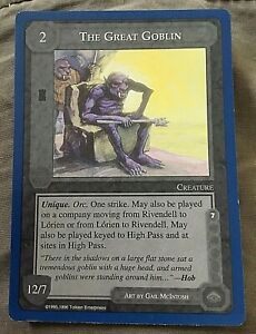 Middle Earth CCG Lidless Eye Wizards Limited Rare Card The Great Goblin
