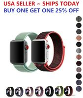Woven Nylon Band for Apple Watch Sport Loop Series 6/5/4/3/2/1/SE 38/42/40/44mm
