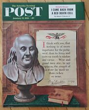 SATURDAY EVENING POST JANUARY 17 1953 BEN FRANKLIN SHANGHAI ESCAPE IKE MUSIC