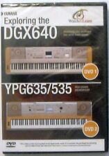 Yamaha Double DVD Set for DGX-640 DGX-530 DGX-630 YPG-635 YPG-535 Keyboards, New