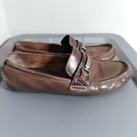 Cole Haan Penny Loafers Men's Size 12M Leather Brown Slip On Comfort Dress Shoe
