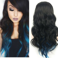 Women Fashion Lady Anime Long Curly Wavy Hair Party Cosplay Full Wig bid