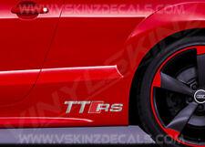 2x Audi TTRS Logo Premium Cast Skirt Decals Stickers TT RS S-line Quattro TFSI