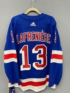 New York Rangers Alexis Lafreniere Authentic Adidas Home Jersey Size 52 Adizero