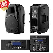 Portable 1500 Watts Speaker USB Bluetooth RCA FM Remote Control Loud Bass Sound