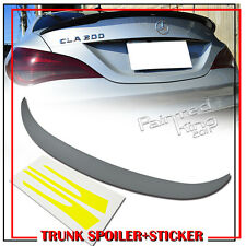Unpainted Mercedes BENZ W117 DTO Type Rear Trunk Spoiler Wing & Mirror Stickers