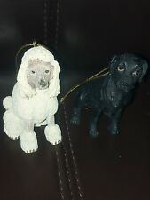 Poodle And Black Dog Ornaments