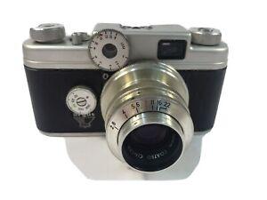 Vintage Argus C4 35mm Film Camera with Coated Cintar 50mm f/2.8 Lens & Case