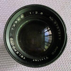 CAMERA LENS Vivitar Telephoto 135mm No. 3737317 Pre-owned
