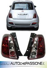 Fanali fari posteriori cromo/rossi ABARTH 500 2008>/FIAT 500 2007> lexus tuning
