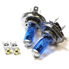 Dacia Logan 55w ICE Blue Xenon HID High/Low/Canbus LED Side Headlight Bulbs Set