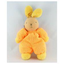 Doudou lapin orange jaune AJENA - Lapin Classique