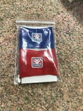 Red & Blue Sweat Wrist Bands For Wrestling Or Other Sports By Brute Brand New