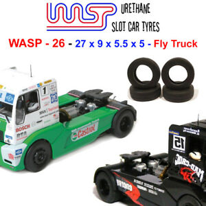 WASP 26 - Urethane Slot Car Tyres - Fly racing truck