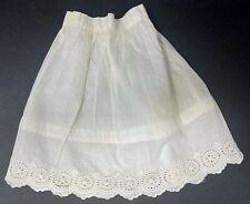 "Vintage Victorian Doll Petticoat Skirt Half Slip w Eyelets By Hem 9"" Long"