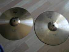 "14"" Paiste Bronze 502 HiHats Hi Hats Cymbals Top and Bottom"