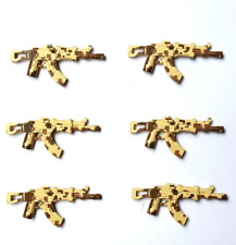 6 PCS Custom Brick Arms Minifigure Military Army Weapons Compatible for LEGO