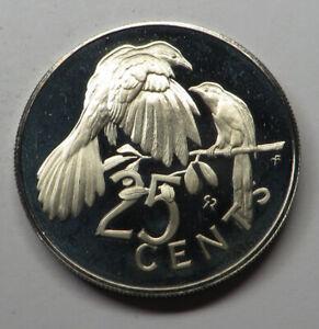 British Virgin Islands 25 Cents 1973FM (P) Copper-Nickel KM#4 Proof
