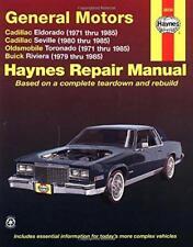 Haynes Cadillac Eldorado (71-85) propriétaires repair workshop manual Manuel Livre