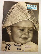 alte Zeitung Zeitschrift Babypost Februar 2 / 1964 14 Seiten