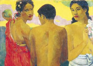 Paul Gauguin - Three Tahitians - HUGE A1 size 59.4x84cm Canvas Print Unframed