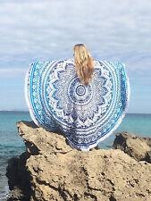 Indian Round Mandala Roundie Beach Throws Towel Yoga Mat Bohemian Table Cloths $