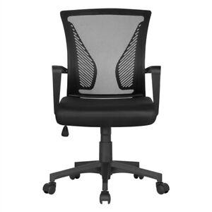 Silla Oficina con Ruedas Soporte Lumbar Altura Ajustable para Despacho Oficina