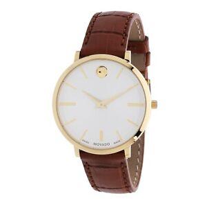 Movado 0607176 Women's Ultra Slim White Quartz Watch
