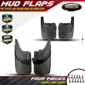 4x Splash Guard Mud Flaps for Toyota Land Cruiser Prado 150 2009-2016 Front&Rear
