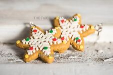 Novelty Festive Christmas Earrings Gingerbread Biscuit Snow Fun Xmas Gift New